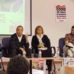 La campanya de CCOO a favor de les pensions publiques, amb més de 150 persones a Cornellà