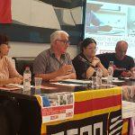 Acte de CCOO  per les pensions públiques a l'aeroport del Prat