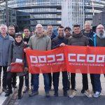 2000 delegades i delegats del Sector del Transport de tota Europa es manifesten a Estrasburg